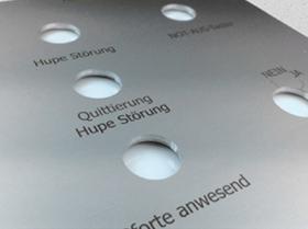 Aluminiumschilder Frontplatten