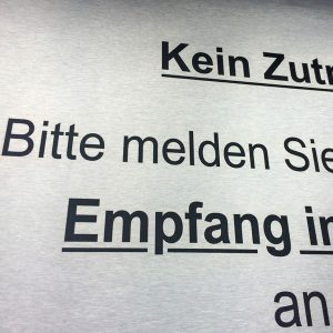 Edelstahl Firmenschilder