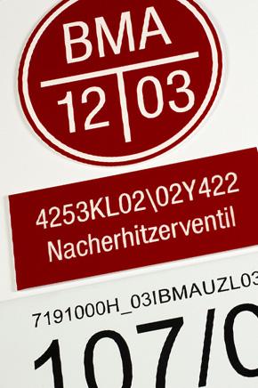 Kunststoff Brandmelderkennzeichnung gravieren