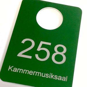 Aluminium Garderobenmarke