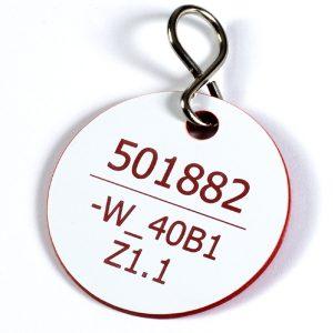 Kunststoff Kabelkennzeichnung mit Haken
