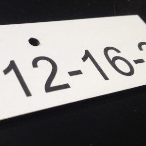 Kunststoffschilder mit Nummern